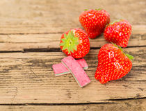 Strawberry chewing gum Royalty Free Stock Photos