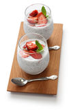Strawberry chia seed pudding Royalty Free Stock Image