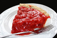 Strawberry Chiffon Pie Stock Images
