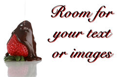Strawberry with chocolate Royalty Free Stock Images