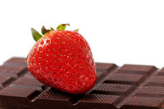 Strawberry and chocolate. Royalty Free Stock Photography