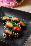 Strawberry chocolate Stock Images