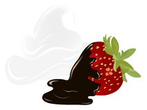 Strawberry with chocolate Stock Photo