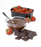 Strawberry chocolate. Royalty Free Stock Image