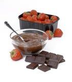Strawberry chocolate. Royalty Free Stock Image