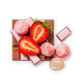 Strawberry chocolate Royalty Free Stock Photography