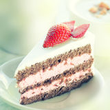 Strawberry chocolate cake Royalty Free Stock Photography
