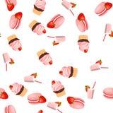Strawberry chocolate cake Stock Photo