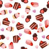 Strawberry chocolate cake Royalty Free Stock Photo