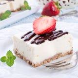Strawberry Chocolate Cheesecake Royalty Free Stock Photo