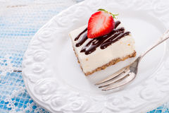 Strawberry Chocolate Cheesecake Royalty Free Stock Photography