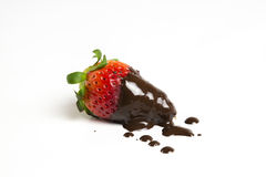 Strawberry with chocolate coating Royalty Free Stock Photography