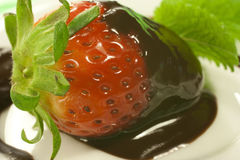 Strawberry and chocolate Royalty Free Stock Photography