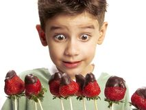 Strawberry chocolate and fun. Stock Images