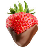 Strawberry with chocolate isolated on the white background Stock Image