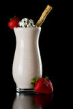 Strawberry chocolate milk shake Stock Photo