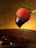 Strawberry and chocolate sauce Royalty Free Stock Images