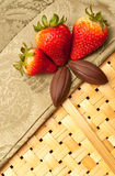 Strawberry and Chocolate Snacks Stock Photography