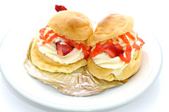 Strawberry Chou Cream Royalty Free Stock Photos