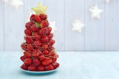Strawberry Christmas tree Stock Photography
