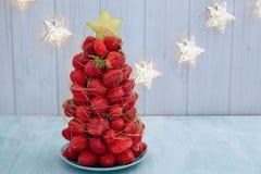Strawberry Christmas tree Royalty Free Stock Photo