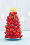Strawberry Christmas tree Royalty Free Stock Images