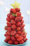 Strawberry Christmas tree Stock Images