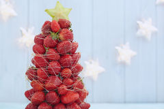 Strawberry Christmas tree Stock Photography