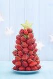 Strawberry Christmas tree Stock Photos