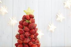 Strawberry Christmas tree Stock Image