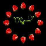 Strawberry clock Royalty Free Stock Images