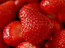 Strawberry so close Royalty Free Stock Images