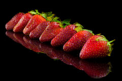 Strawberry. Close up. Royalty Free Stock Image