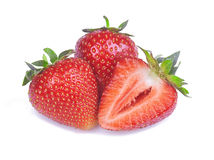 Strawberry in close-up Stock Photo