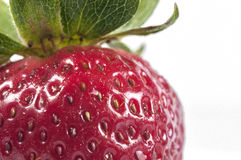 Strawberry. Close up macro shoot isolated in white royalty free stock photos