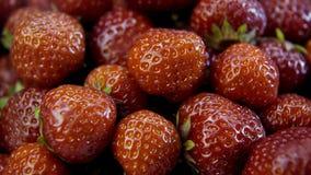 Strawberry close-up plan Royalty Free Stock Photos