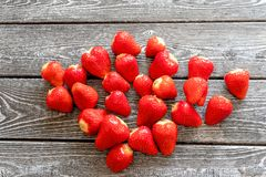 Strawberry close-up on the table royalty free stock image