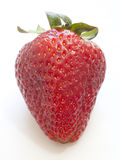Strawberry. A closeup of a strawberry isolated against white Stock Photos