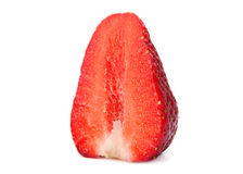 Strawberry closeup slice Royalty Free Stock Photography