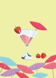 Strawberry cocktai background Stock Photo