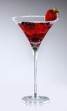 Strawberry Cocktail. Alcoholic Cocktail made of Gin, Strawberry, Lemon Juice and Grenadin Syrup Stock Images