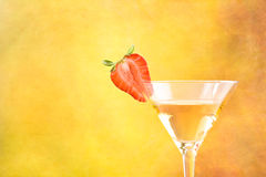 Strawberry and cocktail Royalty Free Stock Image
