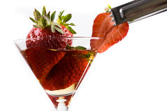 Strawberry cocktail Royalty Free Stock Image