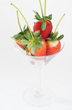 Strawberry cocktail. In a wine glass Royalty Free Stock Photos