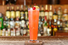 Strawberry cocktail based on gin Royalty Free Stock Photo