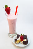 Strawberry cocktail and dessert Stock Image