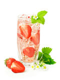 Strawberry cocktail with fresh berries Stock Photography
