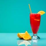 Strawberry cocktail with garnish. Studio shot Stock Image