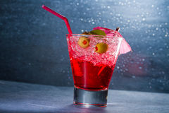 Strawberry cocktail in a glass Stock Photos