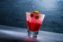 Strawberry cocktail in a glass Stock Photo